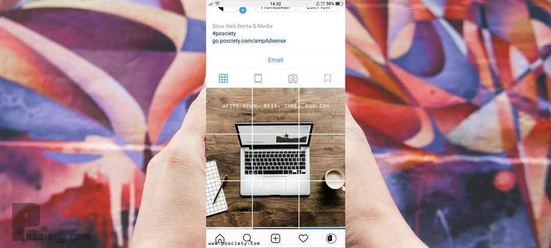Upload Gambar Instagram Terpotong Potong Jadi Satu Gambar Besar