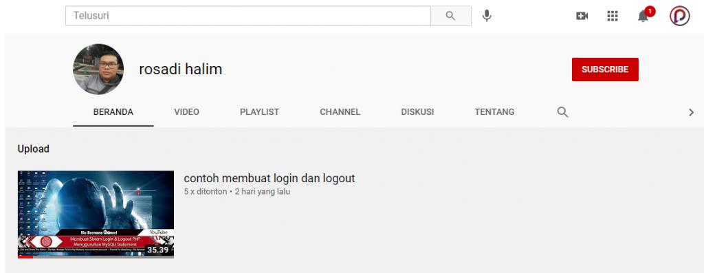 channel youtube rosadi halim