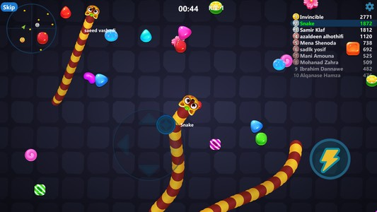 game cacing snak candy.io