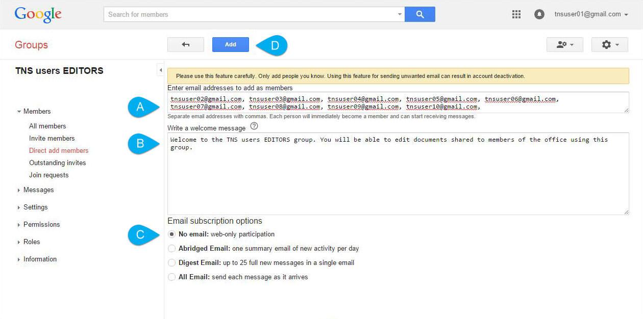 mengatur izin grup dan anggota google groups - rio bermano