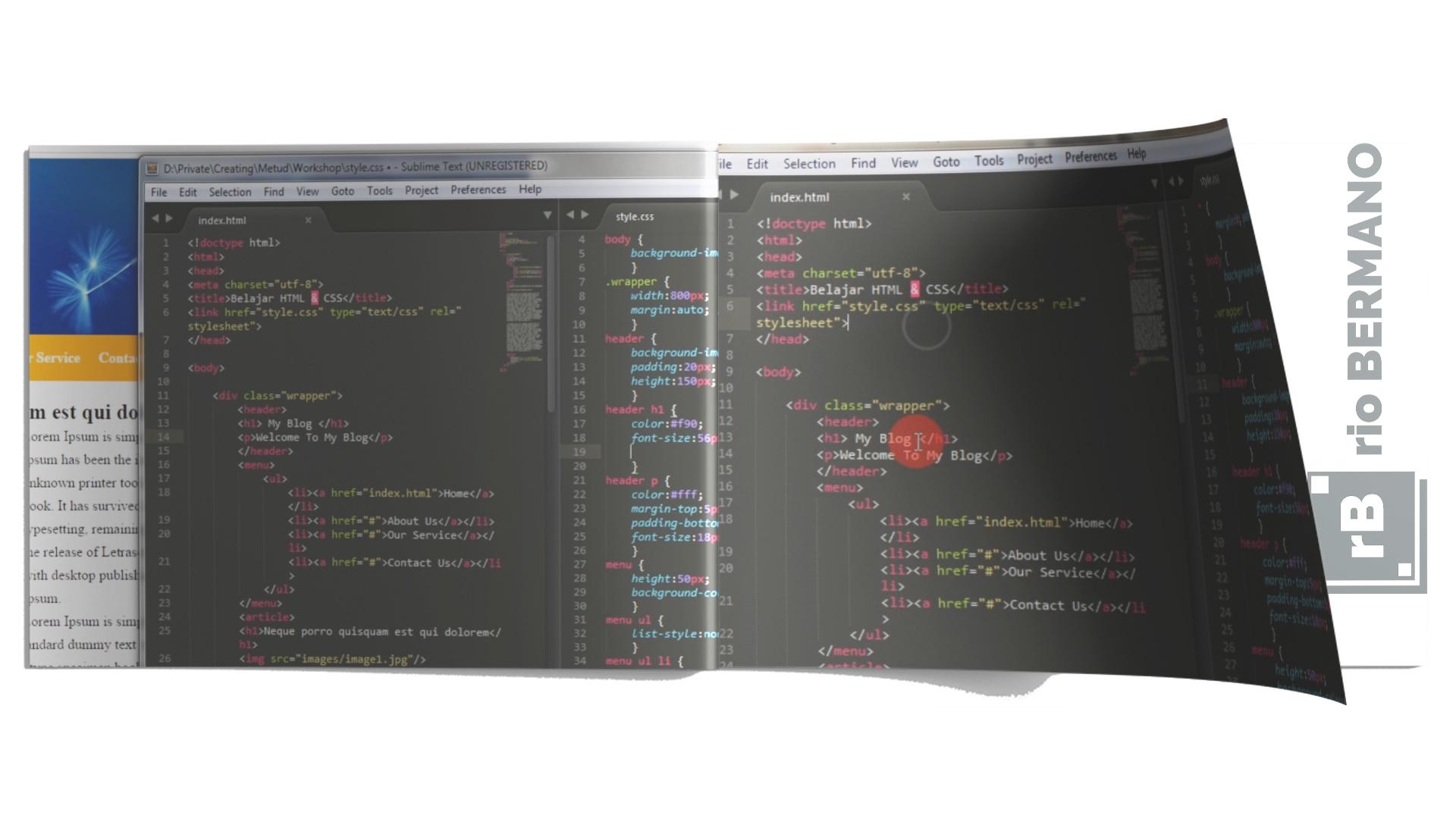 cara membuat bayangan pada text html css - rio bermano
