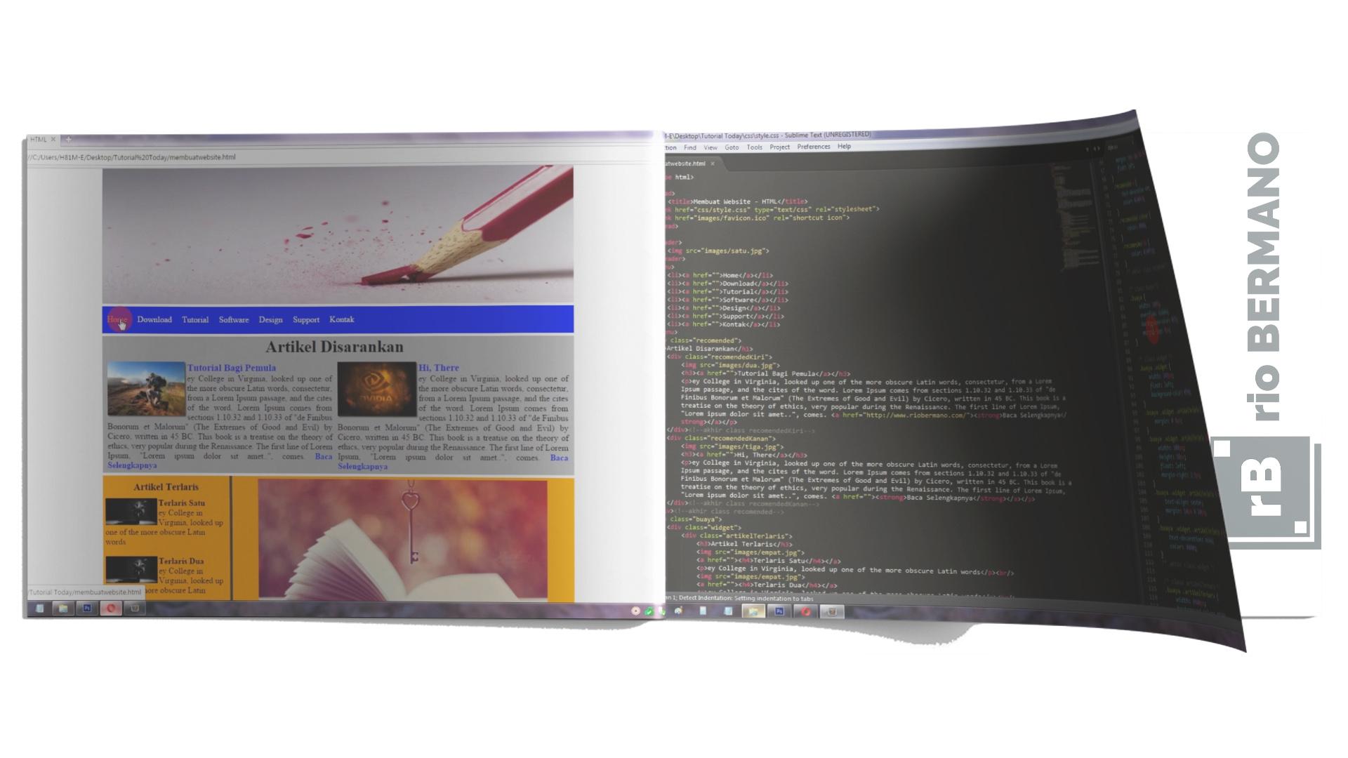 cara membuat blog sendiri html css - rio bermano