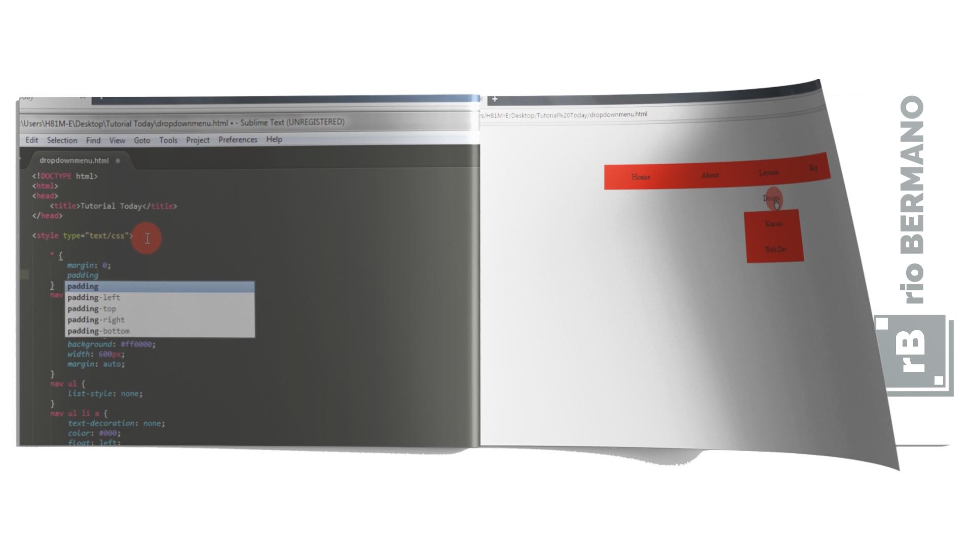 cara bikin dropdown menu html - rio bermano