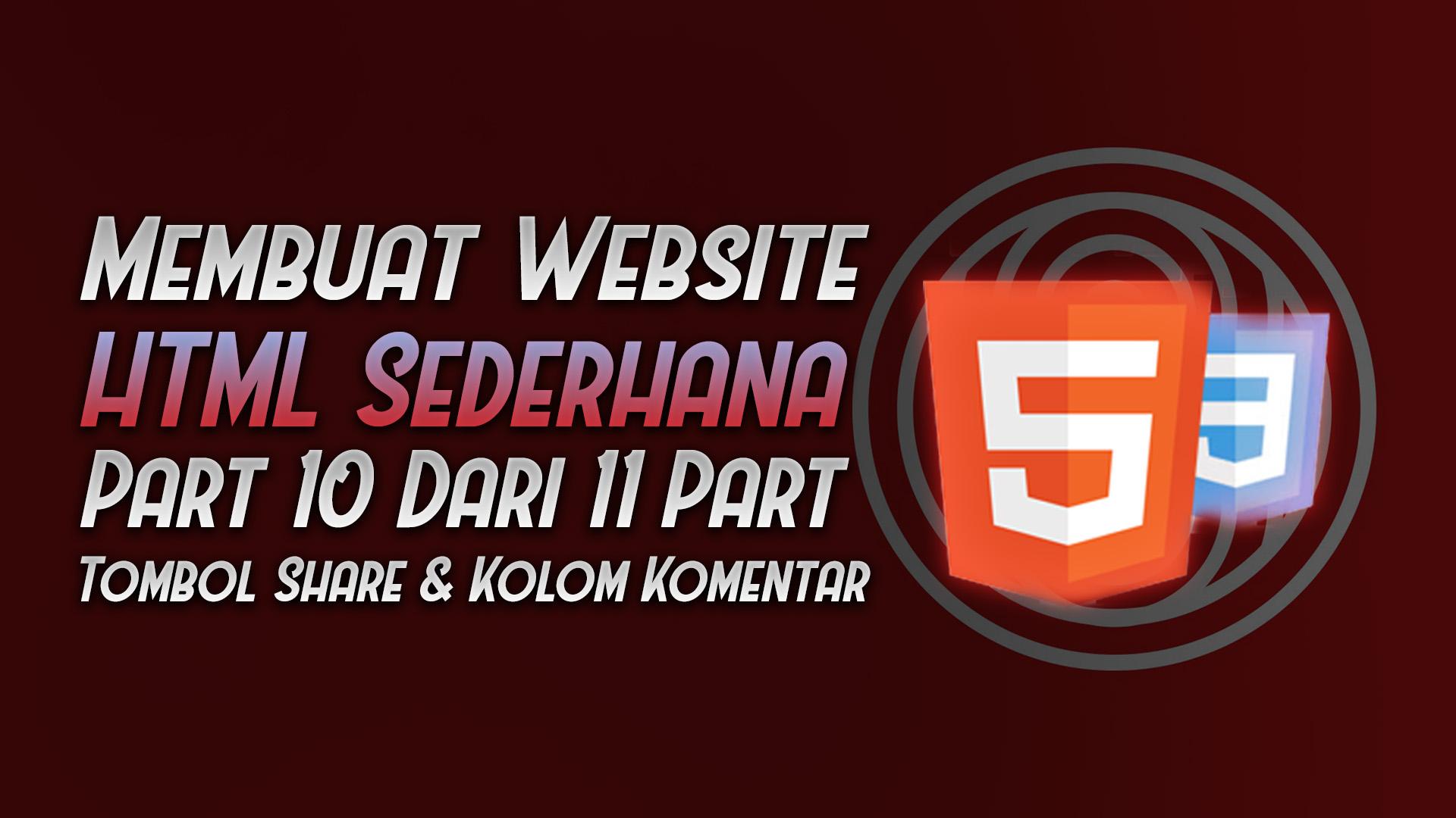membuat website HTML CSS sederhana part 10 - rio bermano