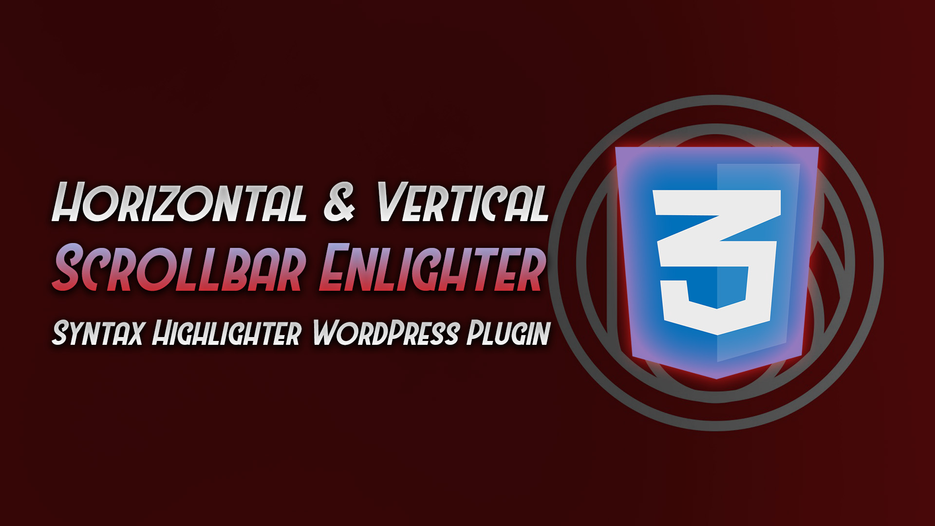 horizontal vertical scroll enlighter syntax highlighter plugin - rio bermano