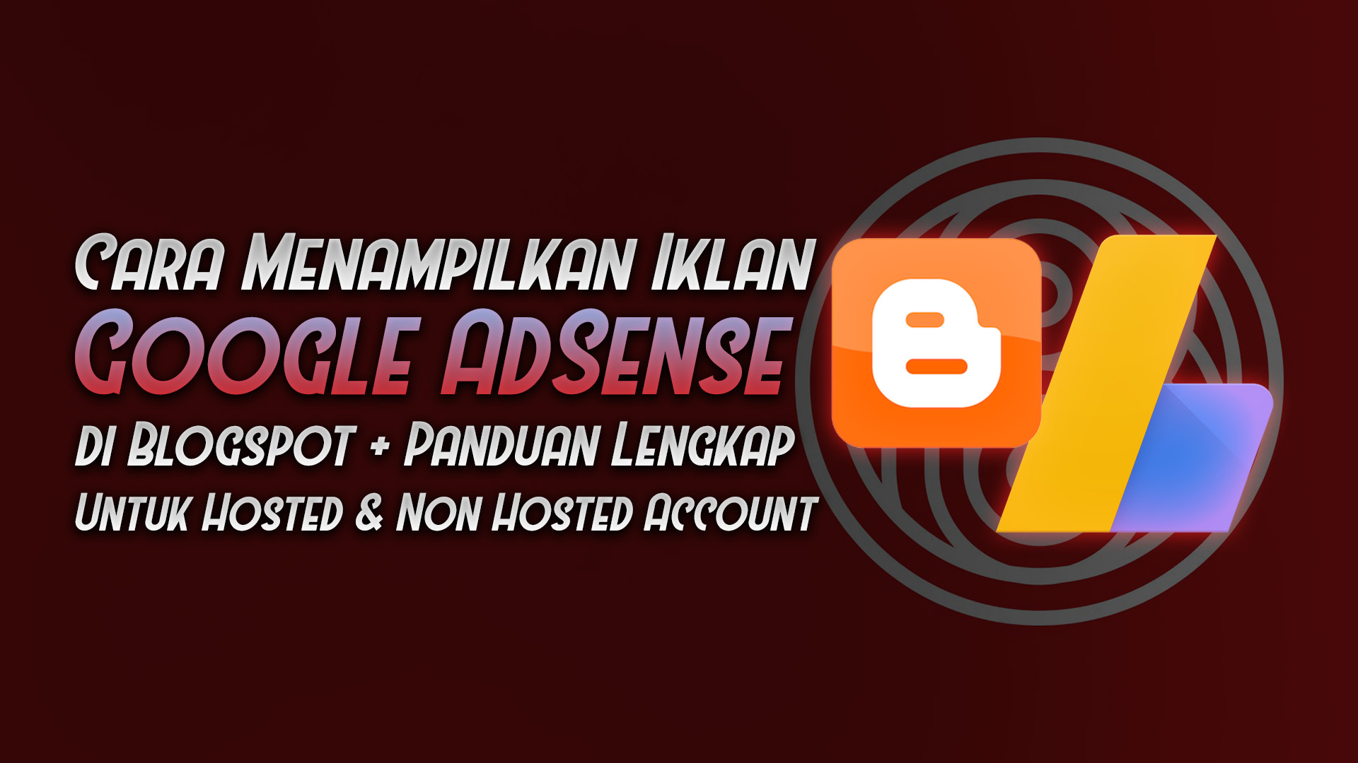 menampilkkan iklan google adsense di blogspot hosted non hosted account - rio bermano
