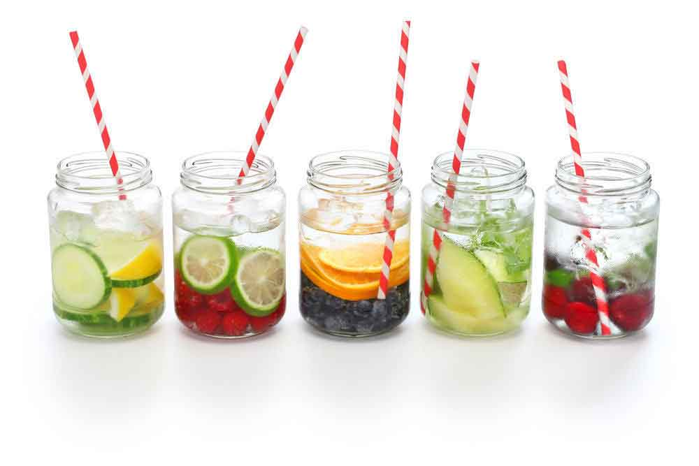 bahan dan manfaat infused water - posciety
