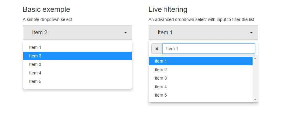 cara membuat filter search live bootstrap dropdown - posciety