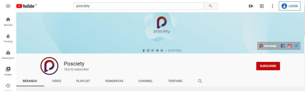 channel youtube posciety