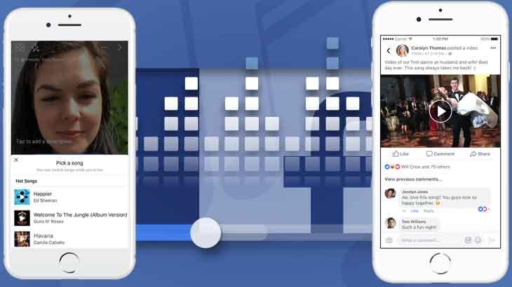 dengarkan musik di facebook - posciety