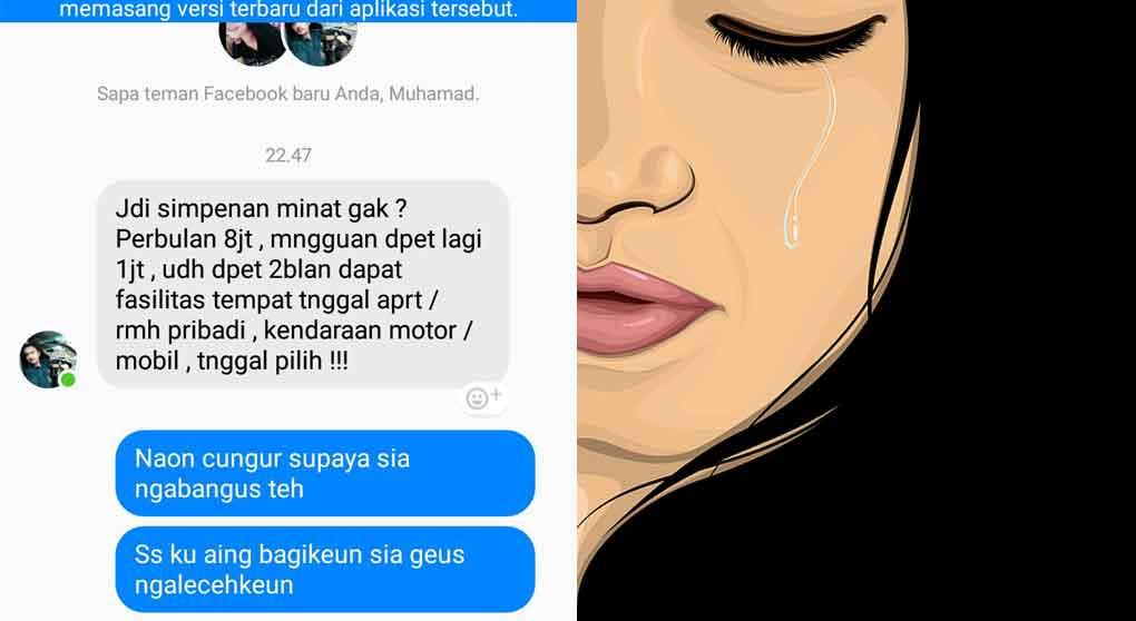 pelecehan wanita sukabumi di pesan facebook - posciety