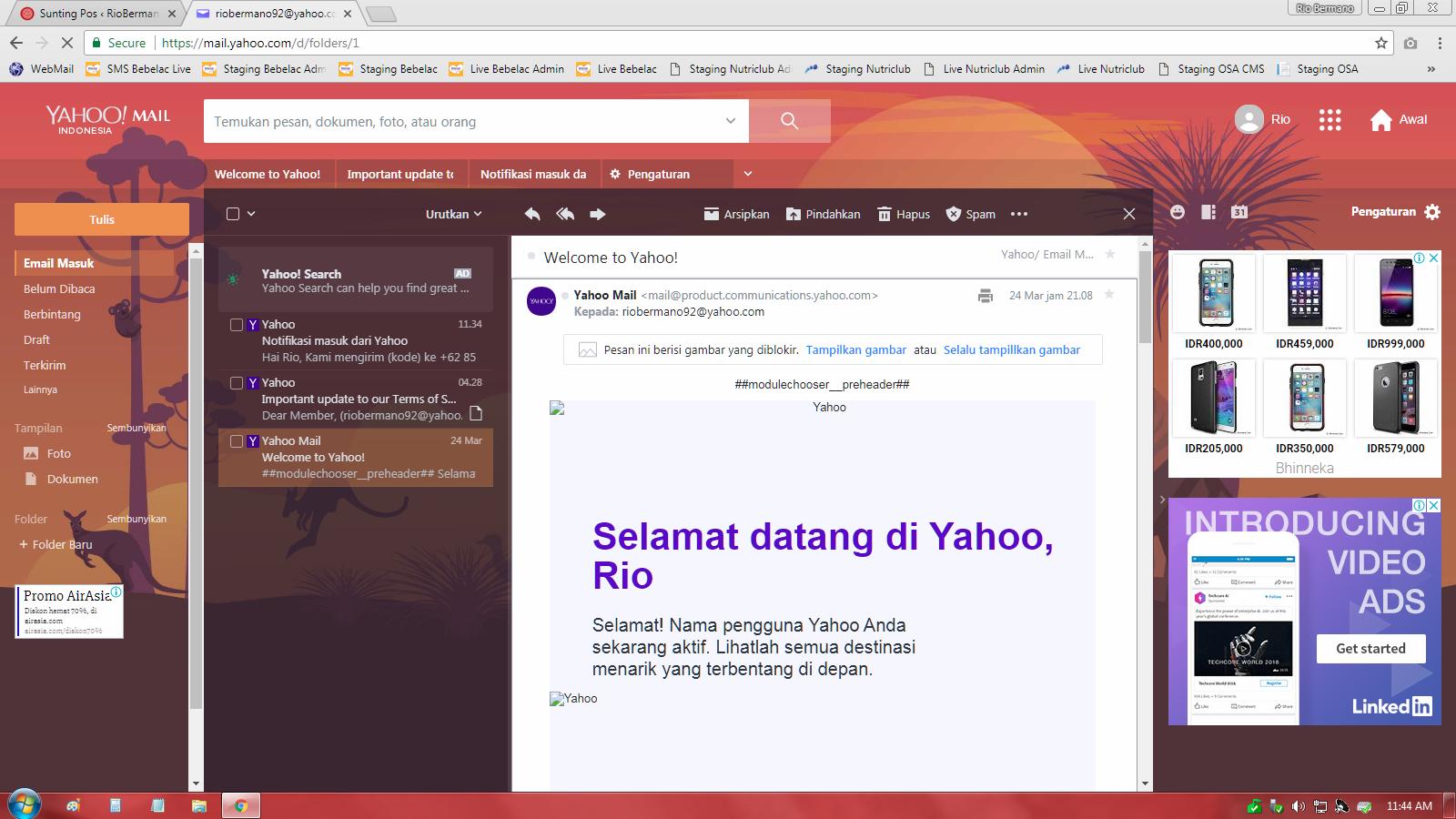 cara mengganti tema tampilan yahoo mail - rio bermano