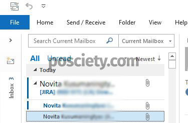 email berdasarkan subject di outlook